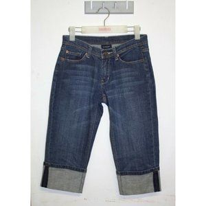 Witchery Women's Capri Jeans Size 8 Mid Rise Medium Wash Stretch Denim